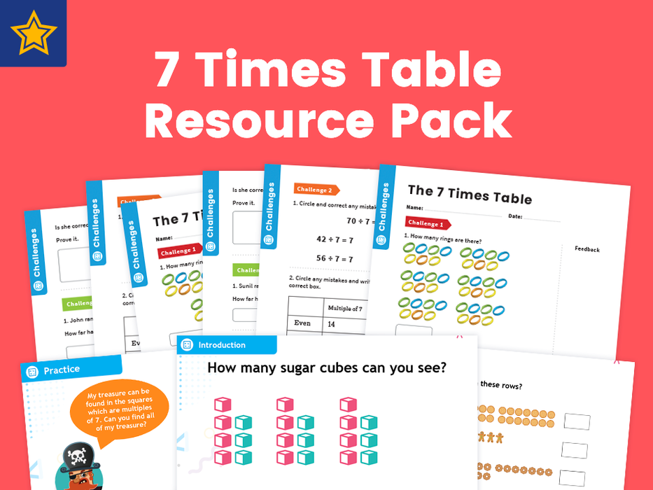 7 Times Table Resource Pack: Teaching, Practising And Investigating – PowerPoint And Activity Worksheets