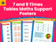 7 and 9 Times Tables Maths Support Posters