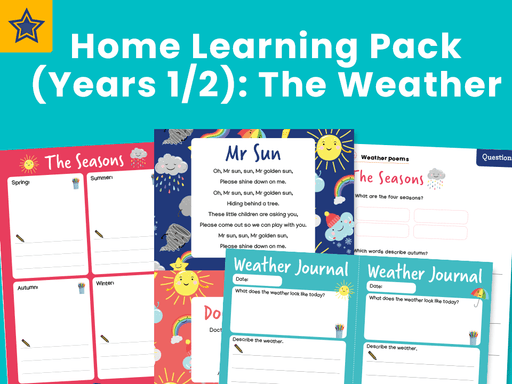 Home Learning Pack (Years 1/2): The Weather