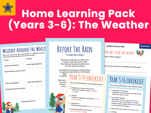 Home Learning Pack (Years 3-6): The Weather