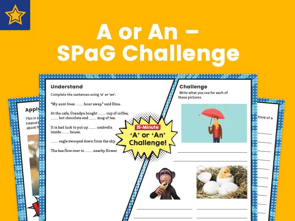 A or An – SPaG Challenge Mat
