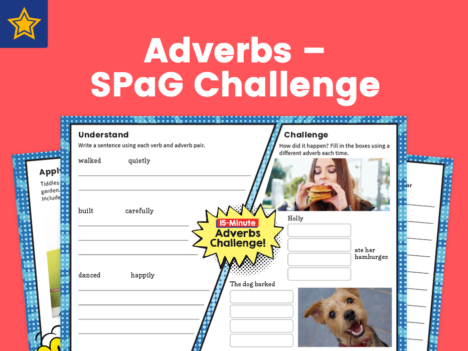 Adverbs – SPaG Challenge Mat