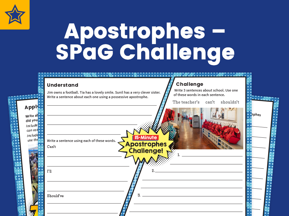 Apostrophes – SPaG Challenge Mat