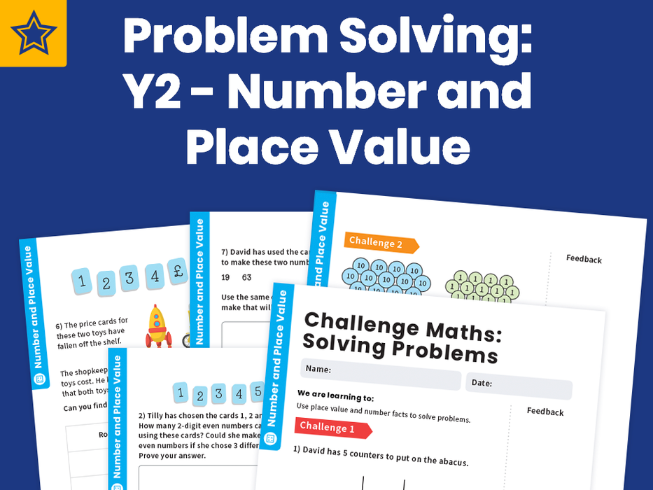 Problem Solving: Y2 - Number and Place Value – Maths Challenge