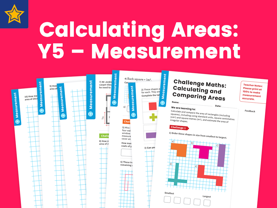 Calculating Areas: Y5 – Measurement – Maths Challenge