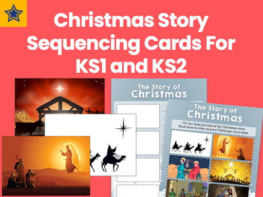 Christmas Story Sequencing Cards For KS1 and KS2
