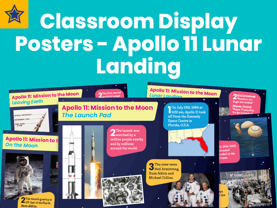 Classroom Display Posters – Apollo 11 Lunar Landing