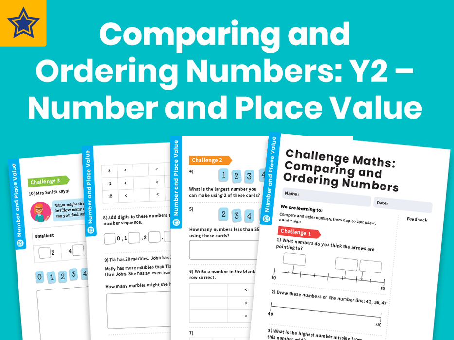 Comparing and Ordering Numbers : Y2 – Number and Place Value – Maths Challenge