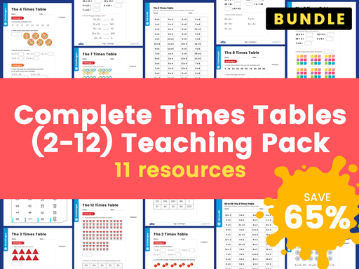 Complete Times Tables (2-12) Teaching Pack – 11 Resources!