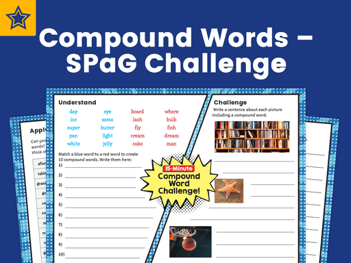 Compound Words – SPaG Challenge Mat
