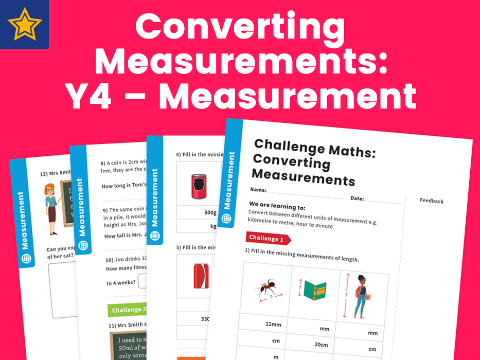 Converting Measurements: Y4 – Measurement – Maths Challenge