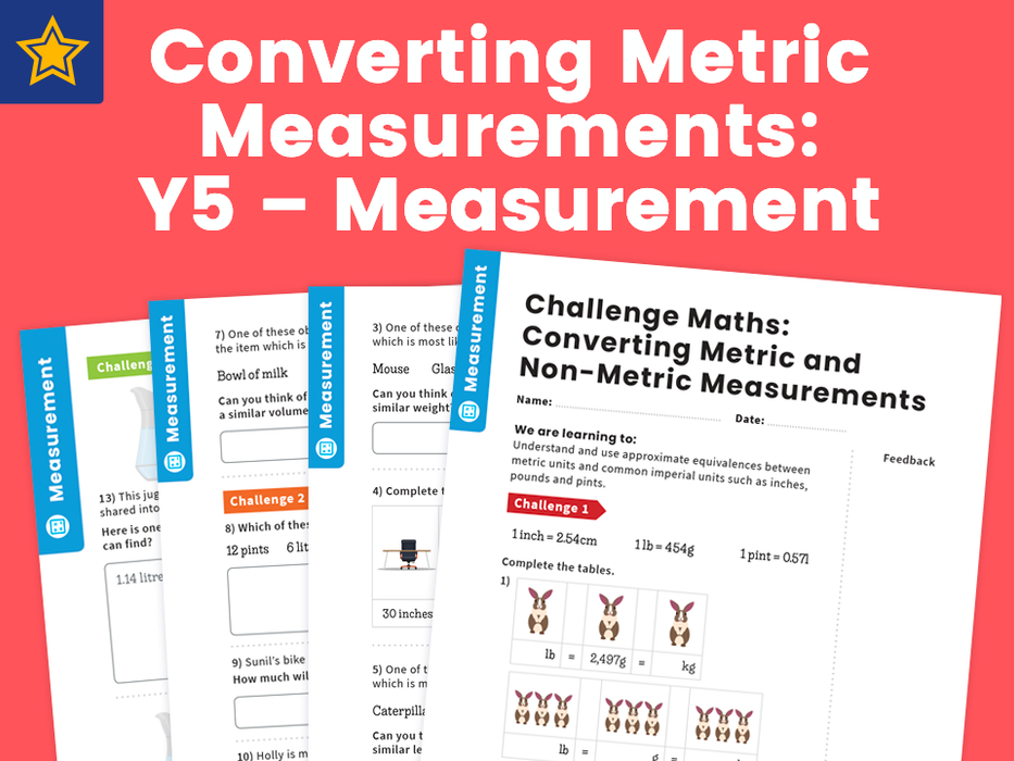 Converting Metric Measurements: Y5 – Measurement – Maths Challenge