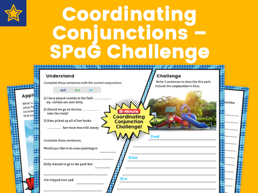 Coordinating Conjunctions – SPaG Challenge Mat