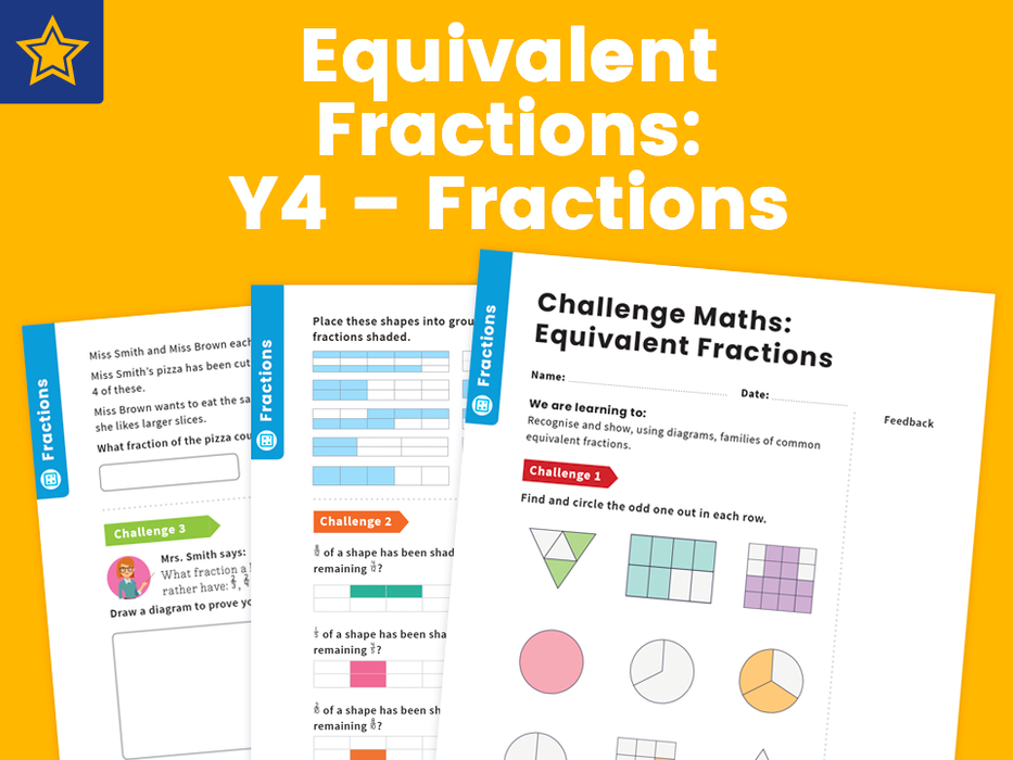 Equivalent Fractions: Y4 – Fractions – Maths Challenge