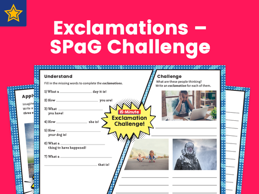 Exclamations – SPaG Challenge Mat