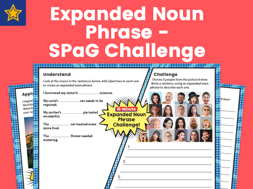 Expanded Noun Phrase SPaG Challenge Mat