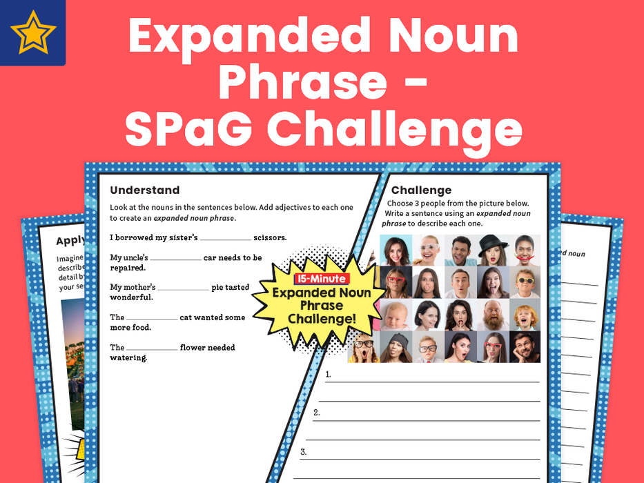Expanded Noun Phrases – SPaG Challenge Mat