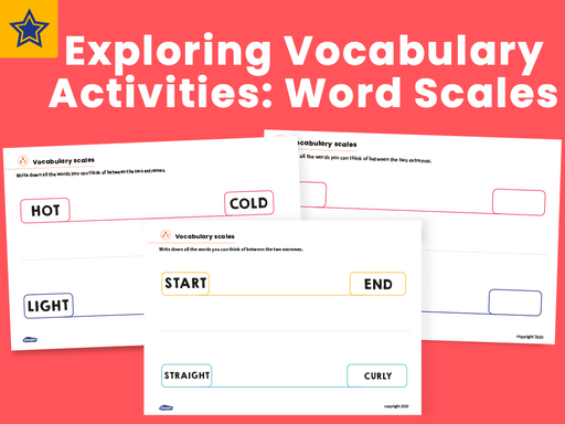 Exploring Vocabulary Activities: Word Scales