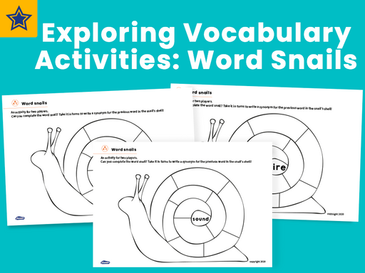 Exploring Vocabulary Activities: Word Snails