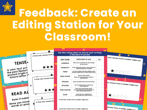 Feedback: Create an Editing Station for Your Classroom!