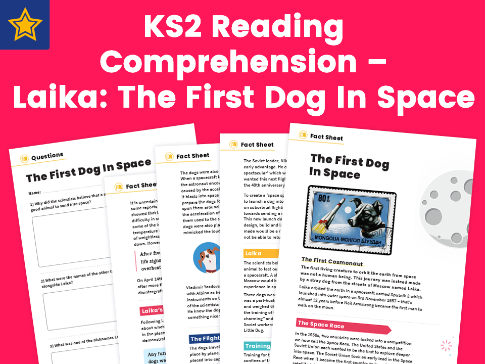 Laika: The First Dog In Space – Non Fiction and Comprehension Questions for KS2