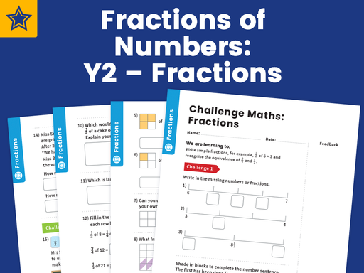 Fractions of Numbers: Y2 – Fractions – Maths Challenge