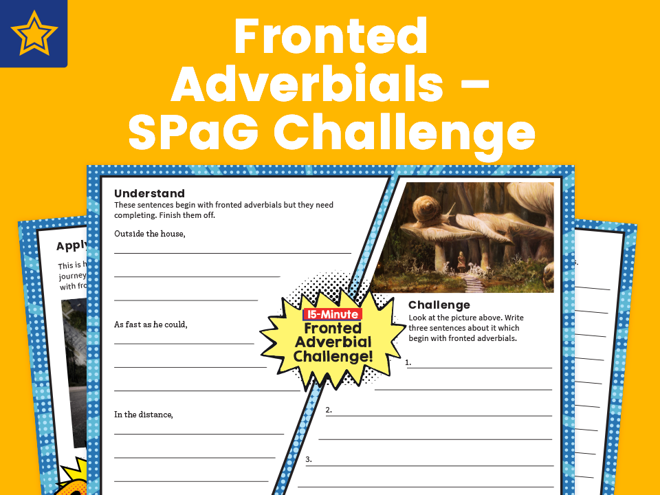 Fronted Adverbials – SPaG Challenge Mat