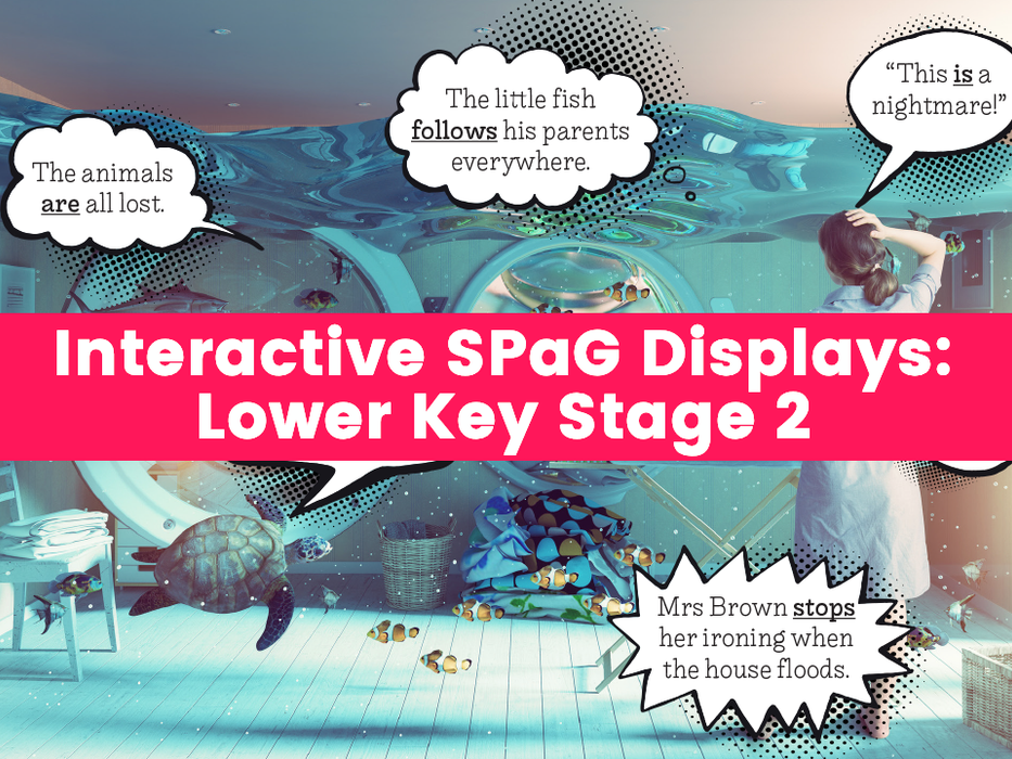 Interactive SPaG Displays: Key Stage 1 – Past Tense – Present Tense – Adverbs – Adjectives – Verbs – Statements, Questions and Commands