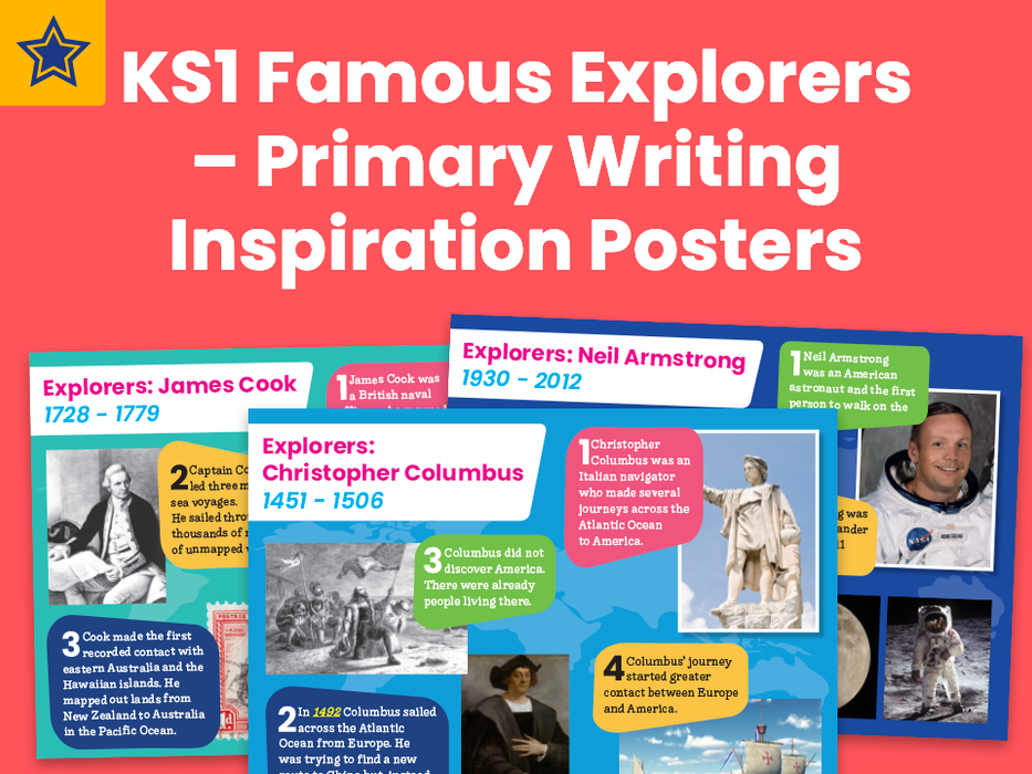 KS1 Famous Explorers – Primary Writing Inspiration Posters