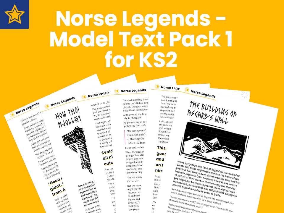 KS2 Norse Tales Model Text Pack 1: Myths and Legends
