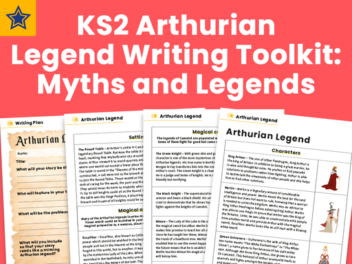 KS2 Arthurian Legend Writing Toolkit Myths and Legends