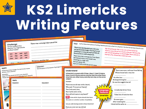 KS2 Limericks Writing Features