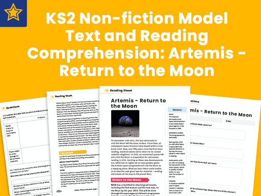 KS2 Non-fiction Model Text and Reading Comprehension Artemis - Return to the Moon