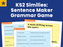 KS2 Similes: Sentence Maker Grammar Game