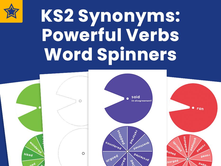 KS2 Synonyms: Powerful Verbs Word Spinners