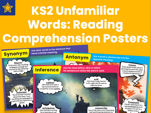 KS2 Unfamiliar Words: Reading Comprehension Posters