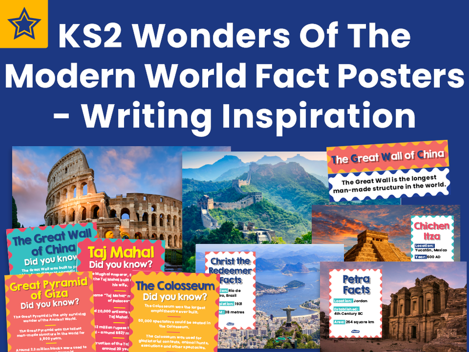 KS2 Wonders Of The Modern World Fact Posters - Writing Inspiration