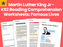 Martin Luther King Jr – KS2 Reading Comprehension Worksheets: Famous Lives