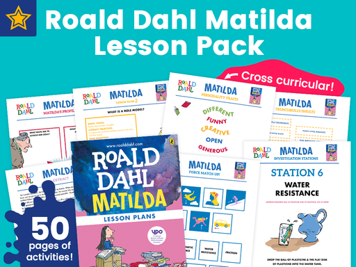 Roald Dahl Matilda Lesson Pack - 50 Pages Of Activities!