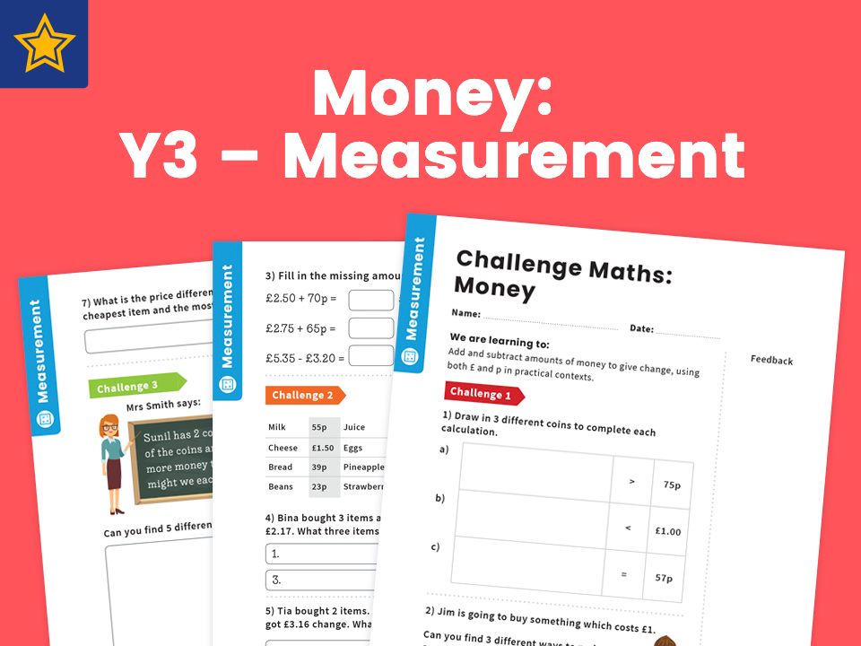 Money: Y3 – Measurement – Maths Challenge
