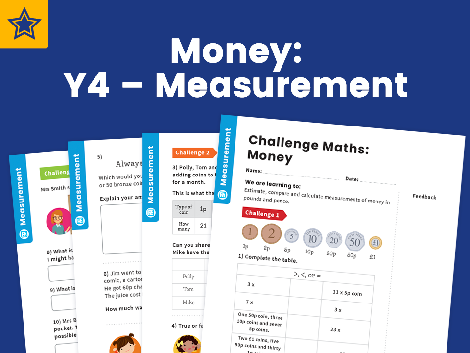 Money: Y4, Measurement – Maths Challenge