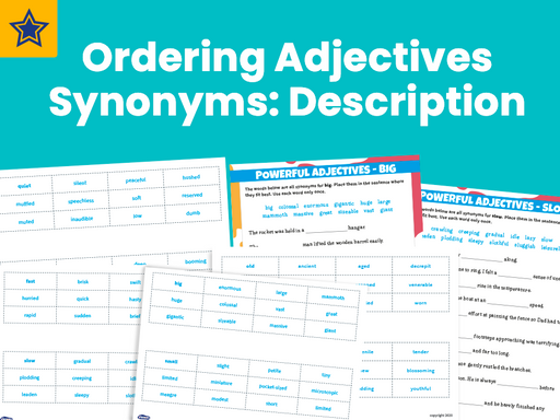 Ordering Adjectives Synonyms Description