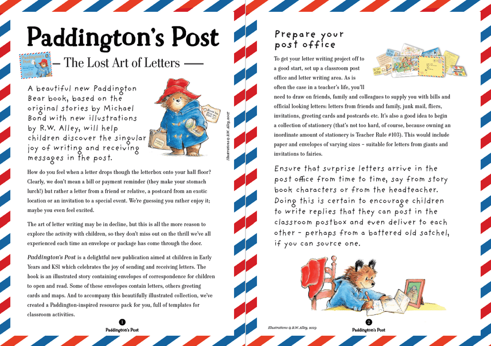 Learn the Art of Letter Writing with Paddington – Full EY/KS1 Lesson and Resources