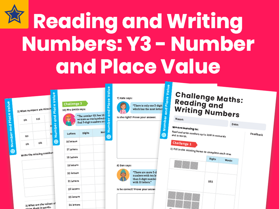 Reading and Writing Numbers: Y3 - Number and Place Value – Maths Challenge