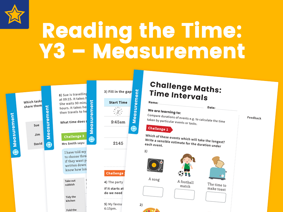 Intervals Of Time: Y3 – Measurement – Maths Challenge
