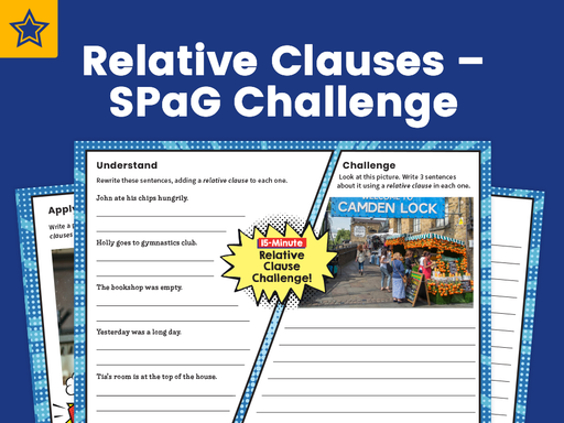 Relative Clauses – SPaG Challenge Mat