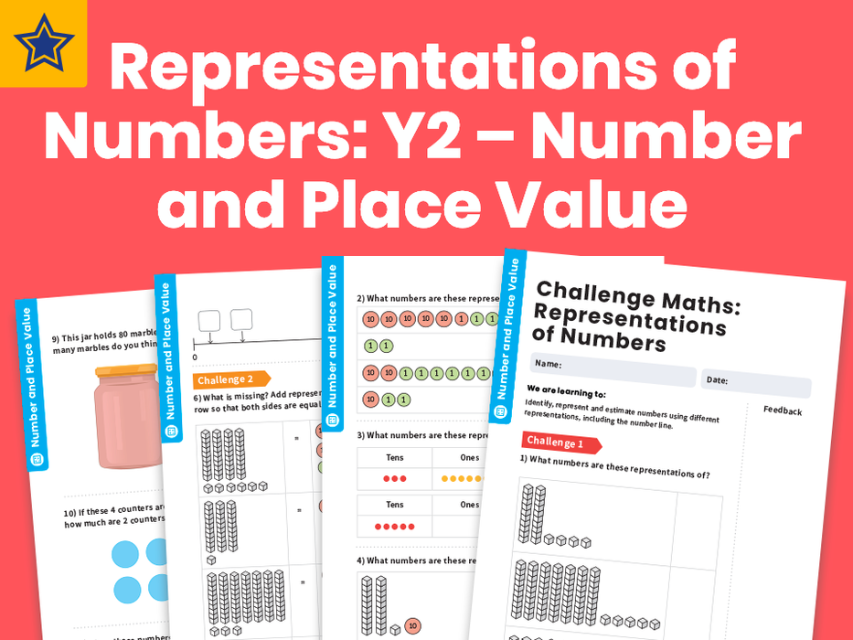 Representations of Numbers: Y2 – Number and Place Value – Maths Challenge