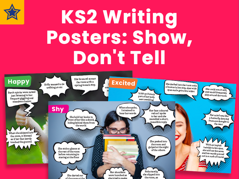 KS2 Show, Don't Tell: Writing Posters