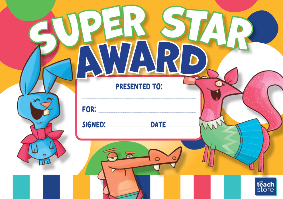 Super Star Award Certificate