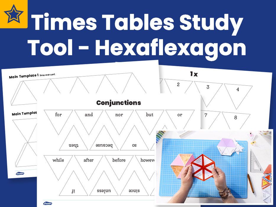 Times Tables Study Tool – Hexaflexagon